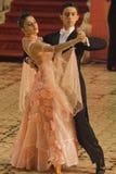 Bailarines del salón de baile: Maria y Bogdan Talpiga Imágenes de archivo libres de regalías