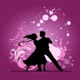 Bailarines del salón de baile. Foto de archivo