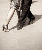 Bailarines del tango Imagen de archivo libre de regalías