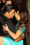 Bailarines del tango en Buenos Aires foto de archivo