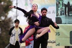 Bailarines del tango en Buenos Aires imagenes de archivo