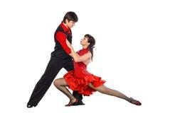 Bailarines del tango en la acción Fotos de archivo