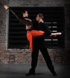 Bailarines del tango en la acción Imagen de archivo