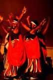 Bailarines del vuelo de Calverachat con música Fotografía de archivo