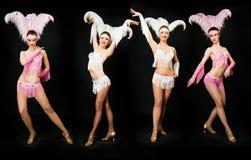 Bailarines delgados Fotos de archivo