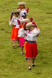 Bailarines ecuatorianos Fotos de archivo libres de regalías