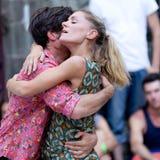 Bailarines en amor. Foto de archivo
