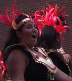 Bailarines en el desfile Edmonton 2013 de Cariwest Imágenes de archivo libres de regalías