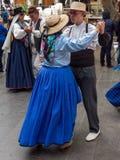 Bailarines en el festival de las islas Canarias Fotografía de archivo