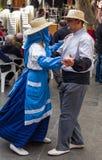 Bailarines en el festival de las islas Canarias Imágenes de archivo libres de regalías