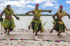 Bailarines en el South Pacific fotos de archivo