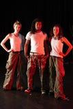 Bailarines en etapa Fotos de archivo