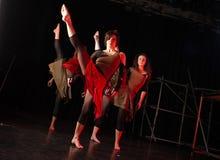 Bailarines en etapa Imagenes de archivo