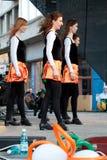Bailarines en etapa Fotografía de archivo libre de regalías