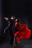 Bailarines en la acción Imagen de archivo