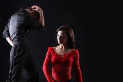 Bailarines en la acción Imágenes de archivo libres de regalías