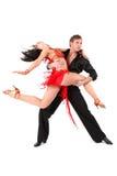 Bailarines en la acción Fotografía de archivo
