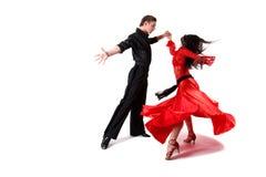 Bailarines en la acción Foto de archivo libre de regalías