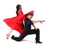 Bailarines en la acción Fotos de archivo