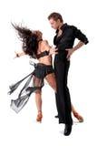 Bailarines en la acción Fotos de archivo libres de regalías