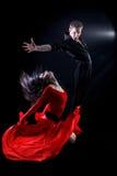 Bailarines en la acción Imagenes de archivo