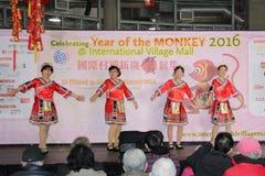 Bailarines en la celebración china del Año Nuevo en Vancouver Fotos de archivo