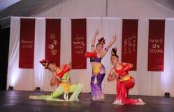Bailarines en la celebración china del Año Nuevo en Vancouver Imagen de archivo libre de regalías