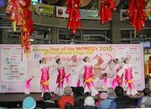 Bailarines en la celebración china del Año Nuevo en Vancouver Fotografía de archivo libre de regalías
