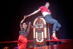 Bailarines en una barra Fotografía de archivo