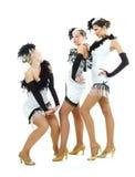 Bailarines encantadores en alineadas Imagenes de archivo