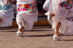 Bailarines folclóricos en México fotografía de archivo libre de regalías