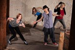 Bailarines frescos de Hip Hop Imagen de archivo libre de regalías