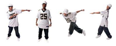 Bailarines frescos del hip-hop Fotos de archivo