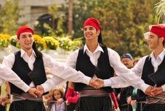 Bailarines griegos Imágenes de archivo libres de regalías
