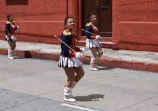 Bailarines guatemaltecos de la banda escolar Imágenes de archivo libres de regalías