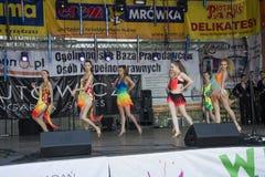 Bailarines hermosos jovenes Foto de archivo