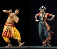 Bailarines indios del bharatanatyam Imagen de archivo libre de regalías