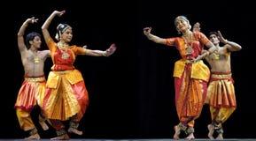 Bailarines indios del bharatanatyam Fotos de archivo libres de regalías
