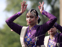 Bailarines indios en el festival cultural Fotografía de archivo