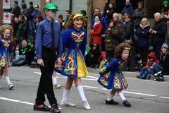 Bailarines irlandeses, desfile del día del St. Patrick Fotografía de archivo