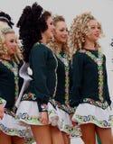 Bailarines irlandeses en los días 2013 de la herencia de Edmonton Foto de archivo