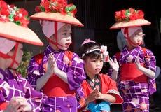 Bailarines japoneses del festival Foto de archivo libre de regalías