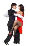 Bailarines jovenes del tango de la elegancia Foto de archivo libre de regalías