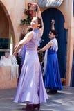 Bailarines justos del flamenco del renacimiento Imágenes de archivo libres de regalías