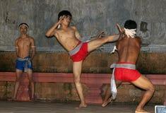 Bailarines Kickboxing de Apsara Fotos de archivo