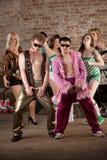 Bailarines lascivos Imágenes de archivo libres de regalías