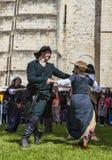 Bailarines medievales Foto de archivo libre de regalías