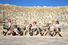 Bailarines modernos Imágenes de archivo libres de regalías