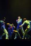 Bailarines modernos chinos del grupo Imagen de archivo