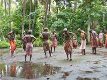 Bailarines nativos en Vanuatu Fotografía de archivo